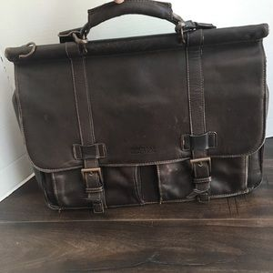 Michael Kors Brown Leather Satchel Briefcase